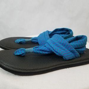 Sanuk yoga cloth thong sandals shoes